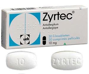Acheter Zyrtec sans ordonnance – Cetirizine prix pas cher